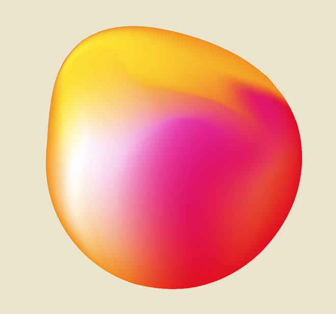 Abstract gradient shape