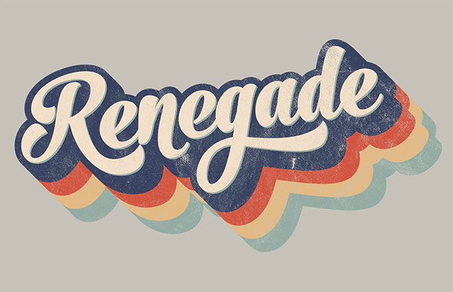 How To Create a Retro 70s Style Striped Logo Type Effect