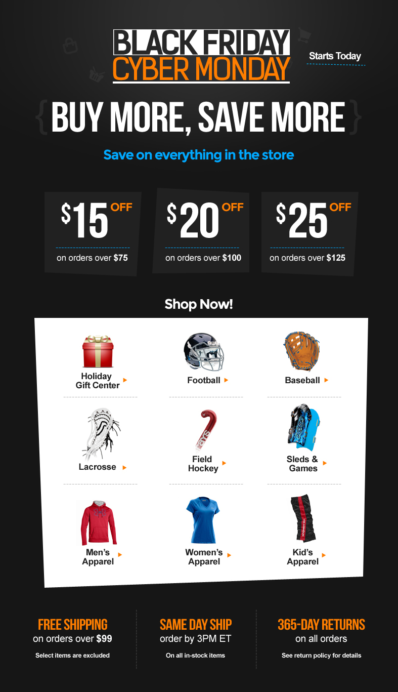 Black Friday Cyber Monday Sporting Goods