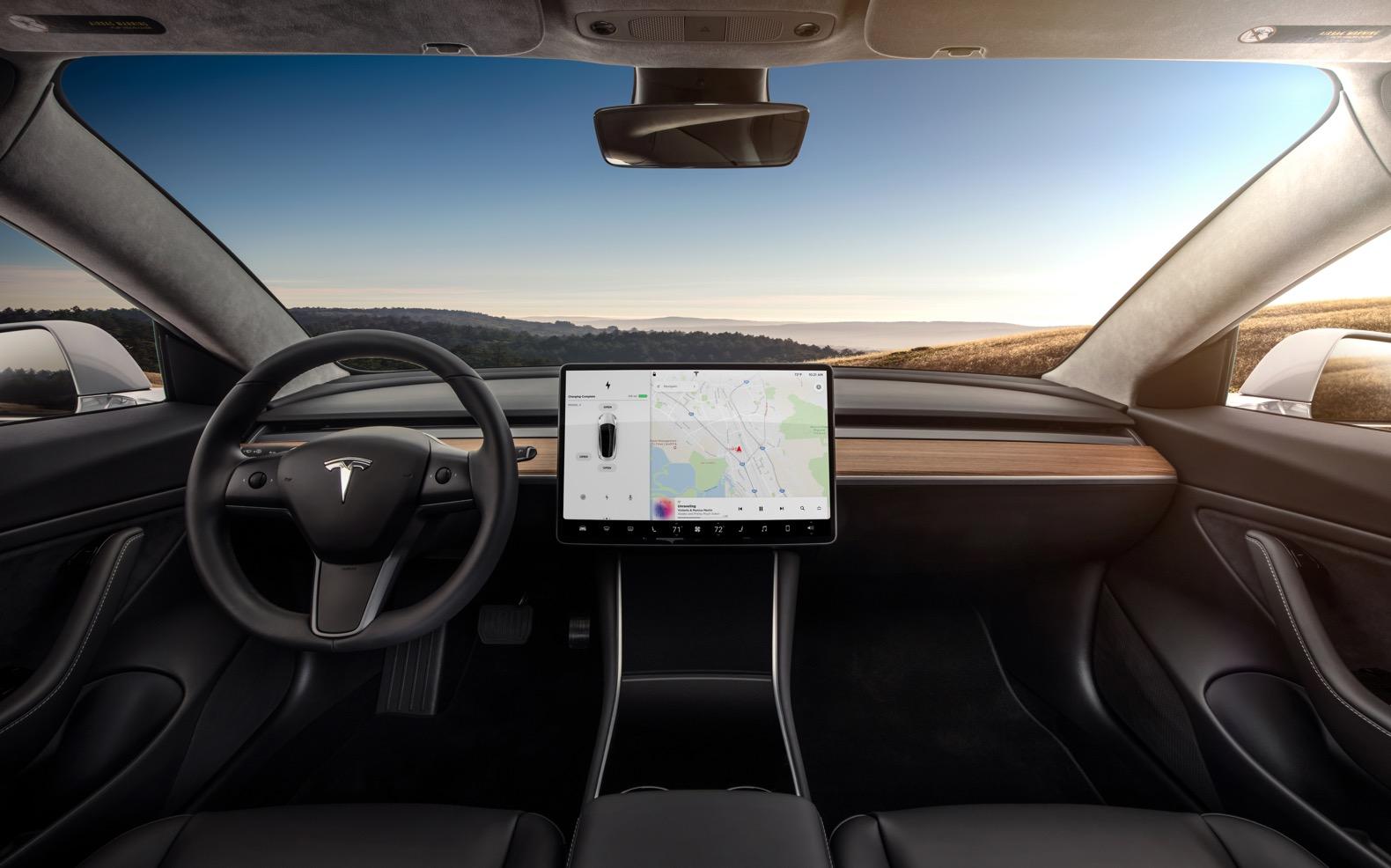 Tesla model X interior camera