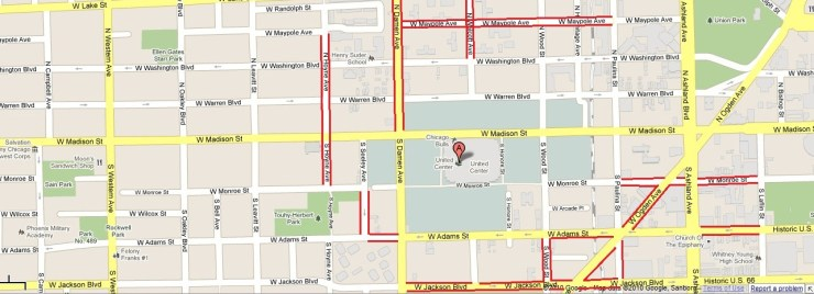 United-Center-Chicago-Parking-Map