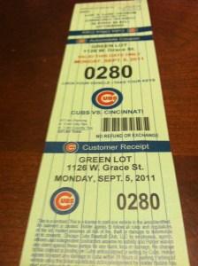 Cubs Green Lot Parking