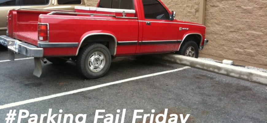 Red truck parking fail