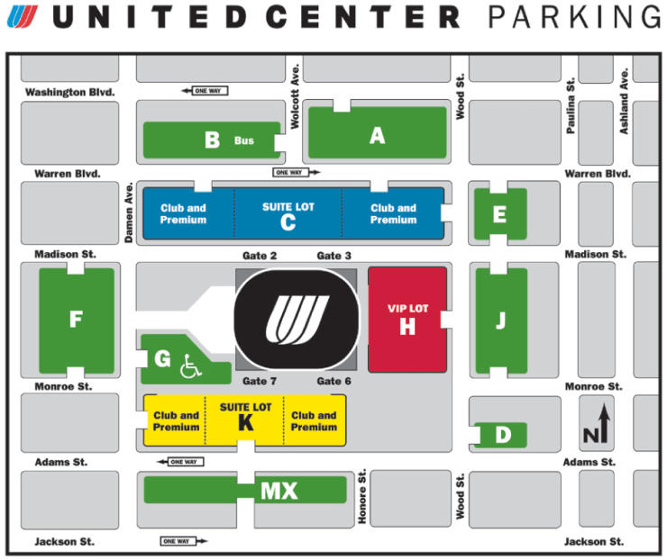 united center parking map