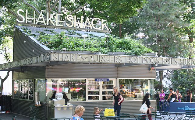 """Shake Shack Madison Square"" by Beyond My Ken - Own work. Licensed under GFDL via Wikimedia Commons - http://commons.wikimedia.org/wiki/File:Shake_Shack_Madison_Square.jpg#/media/File:Shake_Shack_Madison_Square.jpg"