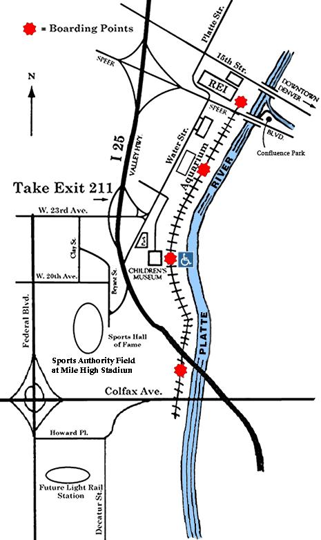 Denver Broncos Parking Lot Map on