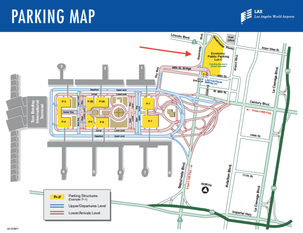 LAX Economy Lot C Parking Map
