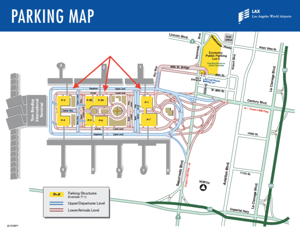 LAX Terminal Parking Map
