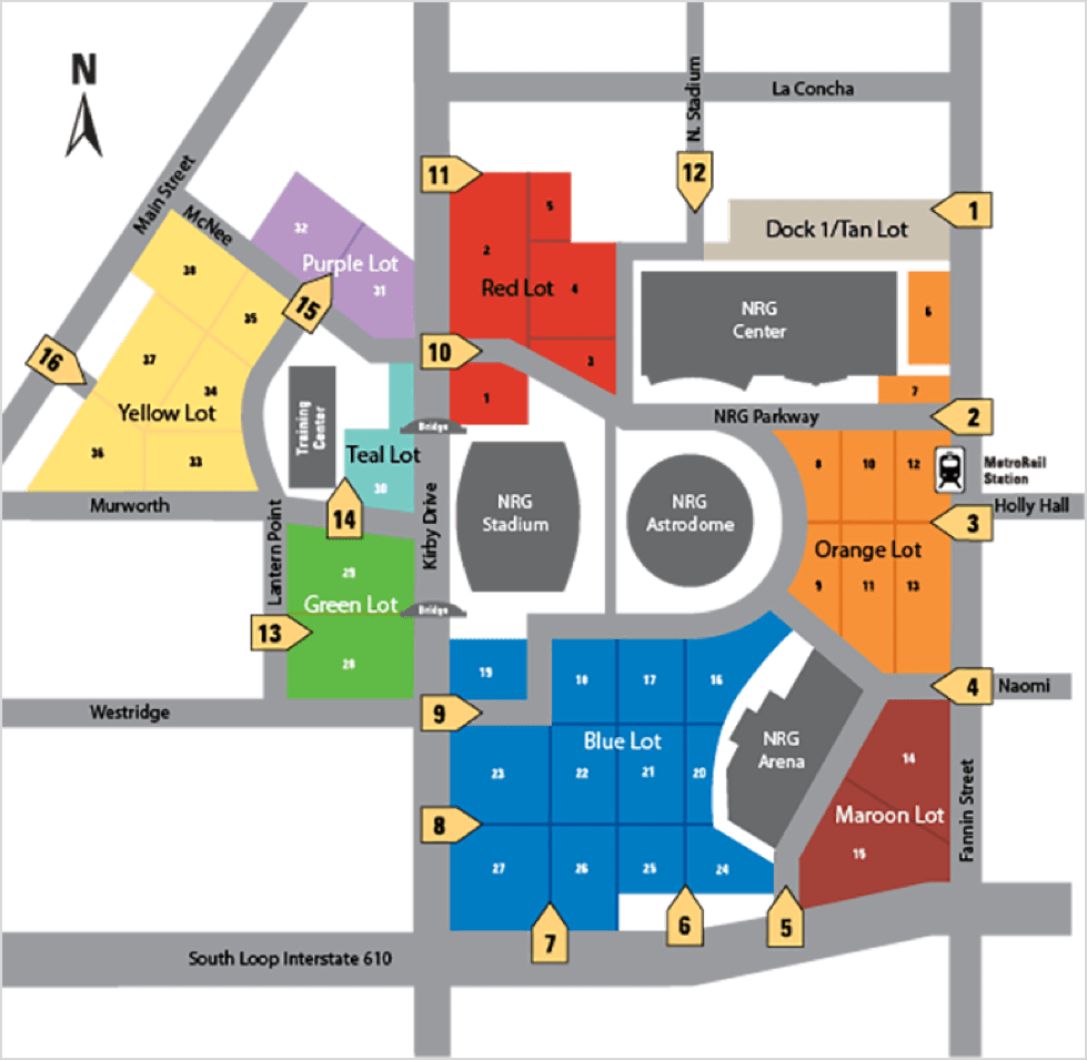 Texans Parking Map Texans Parking: Your Guide to NRG Stadium Parking