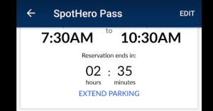 how to extend spothero reservation