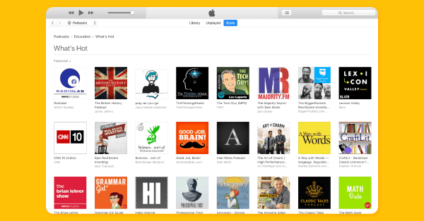Apple Podcasts category for 'Education'