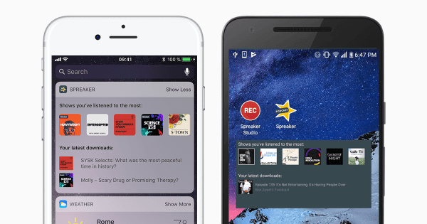 iOS and Android widgets