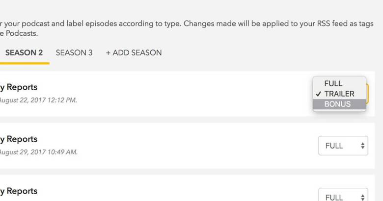 iOS11 seasons and episodes tags
