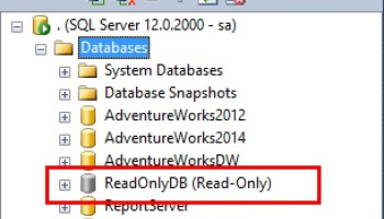 SQL SERVER - Notes and Observations on ReadOnly Databases in SQL Server ReadOnly-file-01