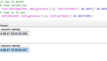 SQL SERVER - DATE and TIME in SQL Server 2008 firstday