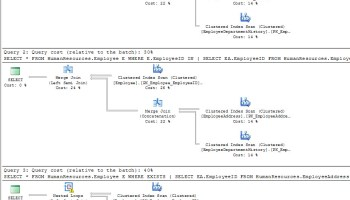 SQL SERVER - Effect of Order of Join In Query inexists2