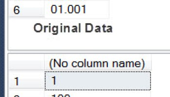 SQL SERVER - Find First Non-Numeric Character from String leadingzeroes