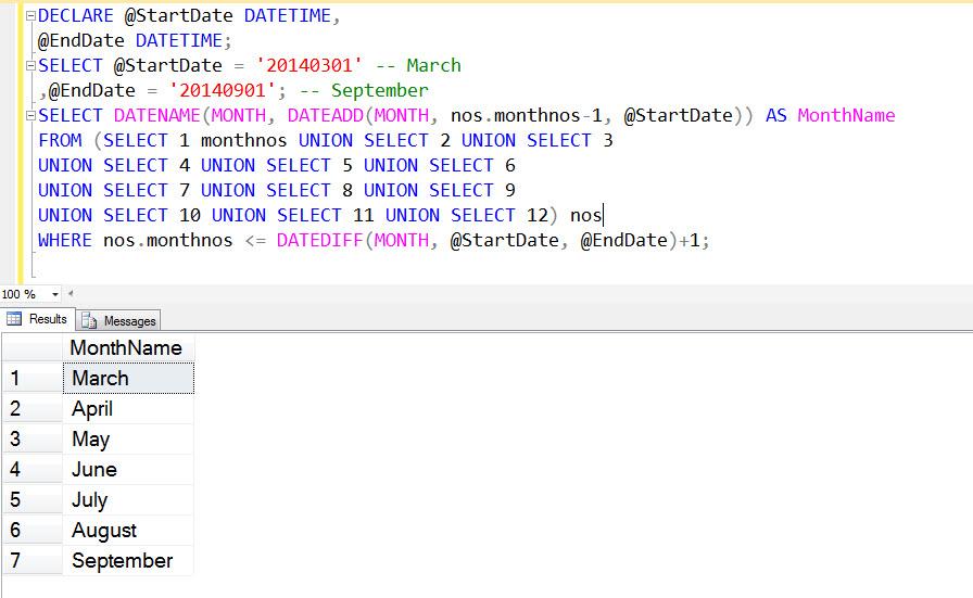 Select between date range sql server