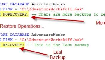 SQL SERVER - Restore Database With Just Log File recoverybackup