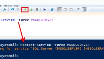 SQL SERVER Management Studio - Taking DB Offline Made Easier restart-sql-powershell-01