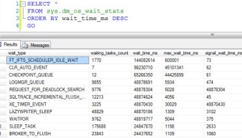 SQL SERVER - DMV - sys.dm_os_waiting_tasks and sys.dm_exec_requests - Wait Type - Day 4 of 28 waitstats1