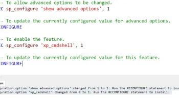 SQL SERVER - Is XP_CMDSHELL Enabled on the Server? xp_cmdshell