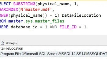 SQL SERVER - Fix Error - Cannot use the backup file because it was originally formatted with sector size 4096 and is now on a device with sector size 512 datafilelocation