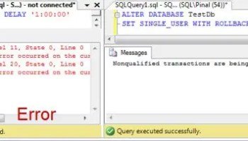 SQL SERVER - Database Testing and Waitfor Delay - Notes from the Field #099 alterdb2