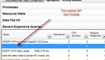 SQL SERVER - 2008 - Location of Activity Monitor - Where is SQL Serve Activity Monitor Located encryptedSP