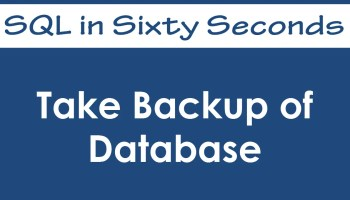 SQL SERVER - Restore SQL Database using SSMS - SQL in Sixty Seconds #044 - Video 37
