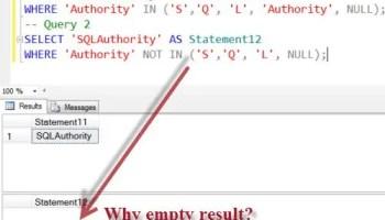 SQL SERVER- Solution - SQL Puzzle of SET ANSI_NULL emptyresult