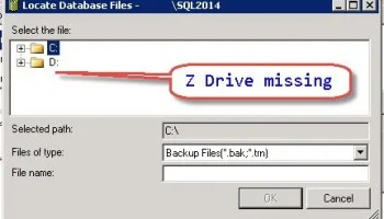 SQL SERVER - Is XP_CMDSHELL Enabled on the Server? bkp-map-drive-02