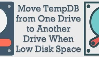 SQL SERVER - Weekly Series - Memory Lane - #023 moveTempDB1