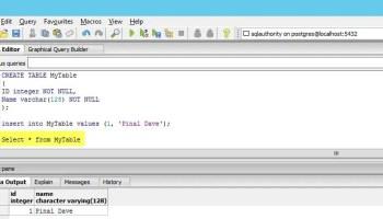 POSTGRESQL - How to Create Function? - How to Declare Local