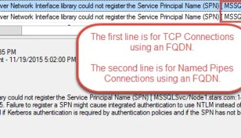 SQL SERVER - Fixing Annoying Network Binding Order Error - Notes from the Field #112 Kerb-Error-in-Log
