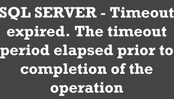SQL SERVER Management Studio - Completion Time in Messages timeout-period