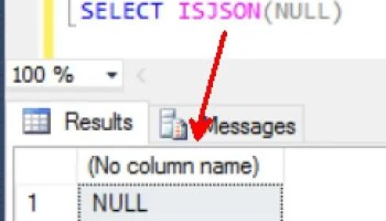 sql server 2016 check value as json with isjson