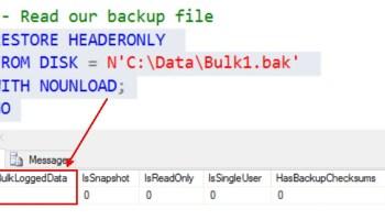 SQL SERVER - Log File Growing for Model Database - model Database Log File Grew Too Big bulk-logging-finding-01