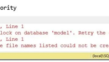 SQL SERVER - FIX: Error: 1807 Could not obtain exclusive lock on database 'model'. Retry the operation later. model-in-use-01
