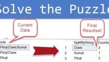 SQL SERVER - Split Comma Separated Value String in a Column Using