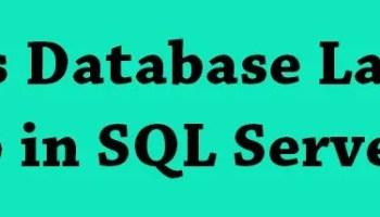 SQL SERVER - Get Database Backup History for a Single Database dbbackuplast