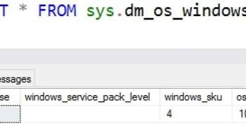 SQL SERVER - DMV to Get Host Information - sys.dm_os_host_info windows-os-info-DMV-01