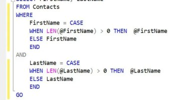 SQL SERVER - Optimize Key Lookup by Creating Index with Include Columns casestatement