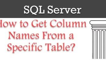 SQL SERVER - Get Column Names columnname-1