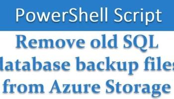SQL SERVER - Powershell Script - Remove Old SQL Database