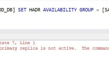 SQL SERVER - Always On Availability Group Error 35250: The Connection to the Primary Replica is Not Active conn-not-active-01