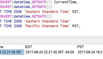 SQL SERVER - Convert Date Time AT TIME ZONE attimezone