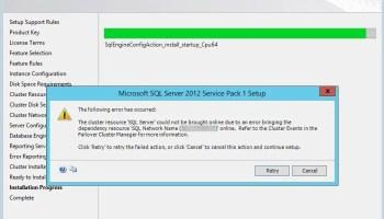 SQL SERVER - Unable to Add Node - Could not find subkey System \ CurrentControlSet \ Services \ MSSQLFDLauncher. Error code 0x851B0001 cluster-setup-dep-01