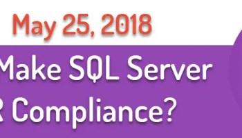 SQL SERVER - TDE Effects on TempDB's Slow Performance GDPRCompliance
