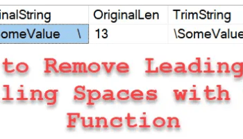 SQL SERVER - Check If String is a Palindrome in Using T-SQL Script - Reverse Function trimfunction